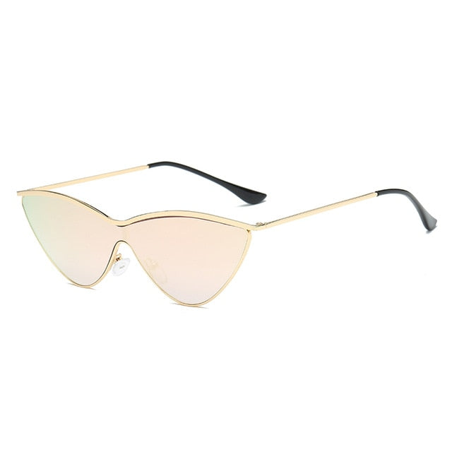 The Vitti Sunglasses Gold Frame Pink Mirrored Lens Sunglasses Gold Frame Pink Mirrored Lens   - Super Cool Supply Store