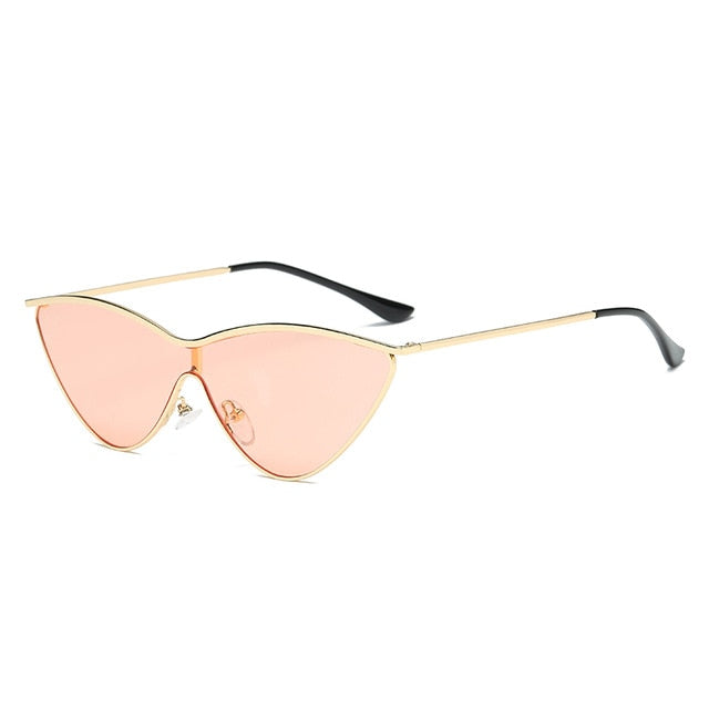 The Vitti Sunglasses Gold Frame Pink Lens Sunglasses Gold Frame Pink Lens   - Super Cool Supply Store
