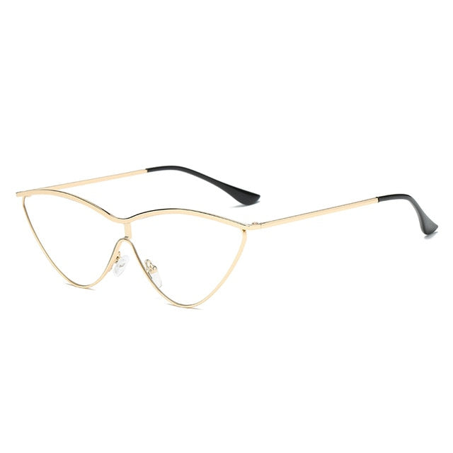 The Vitti Sunglasses Gold Frame Clear Lens Sunglasses Gold Frame Clear Lens   - Super Cool Supply Store
