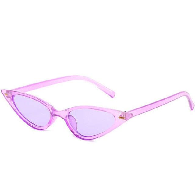 The Feline Sunglasses Purple Frame Purple Lens Sunglasses Purple Frame Purple Lens   - Super Cool Supply Store