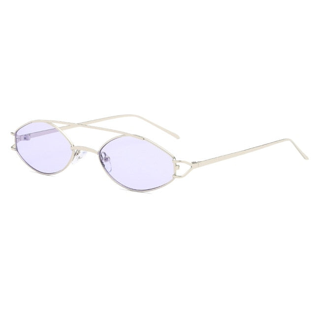 The Beam Sunglasses Silver Frame Purple Lens Sunglasses Silver Frame Purple Lens   - Super Cool Supply Store