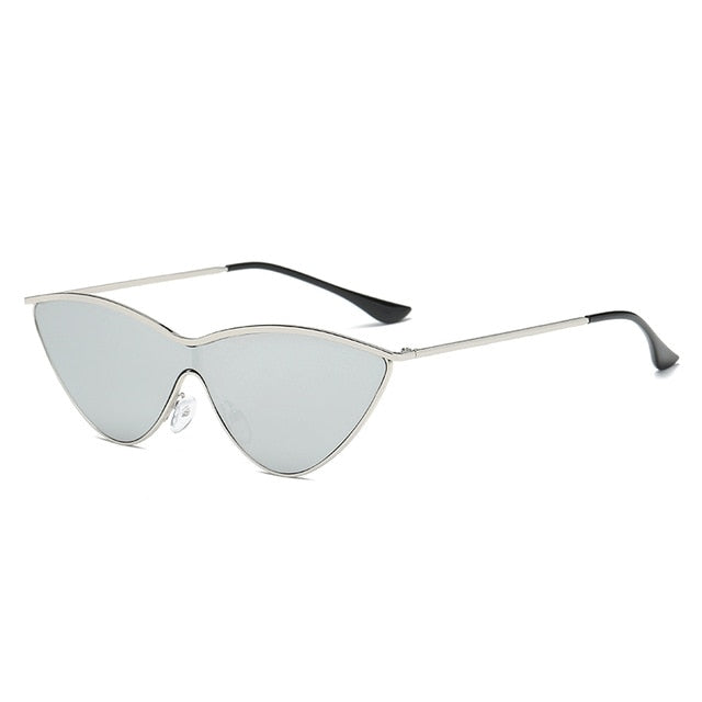 The Vitti Sunglasses Silver Frame Silver Lens Sunglasses Silver Frame Silver Lens   - Super Cool Supply Store