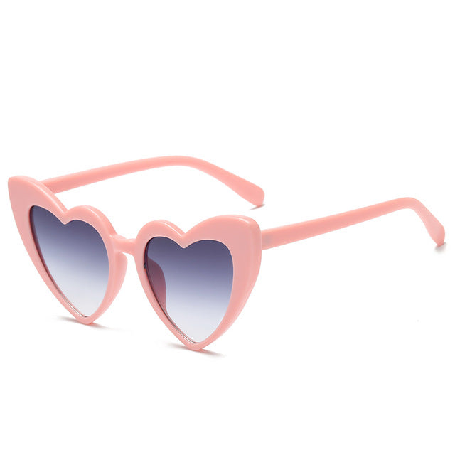 The Heart Sunglasses Pink Frame Grey Lens Sunglasses Pink Frame Grey Lens   - Super Cool Supply Store