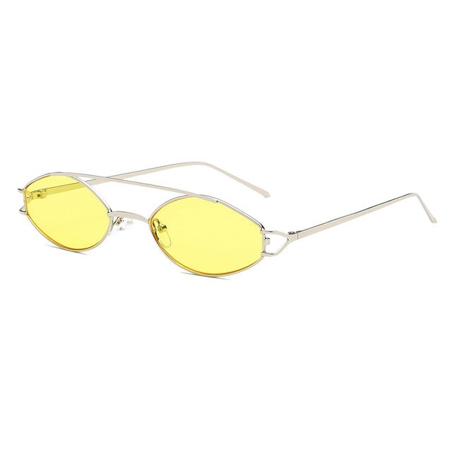 The Beam Sunglasses Silver Frame Yellow Lens Sunglasses Silver Frame Yellow Lens   - Super Cool Supply Store