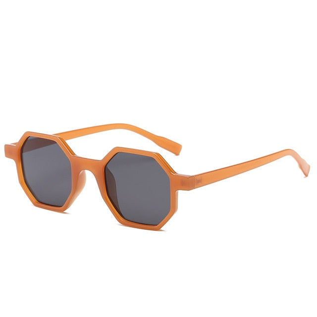 The Octagon Sunglasses Brown Frame Black Lens Sunglasses Brown Frame Black Lens   - Super Cool Supply Store