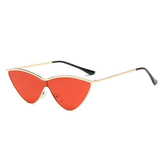 The Vitti Sunglasses Gold Frame Red Lens Sunglasses Gold Frame Red Lens   - Super Cool Supply Store