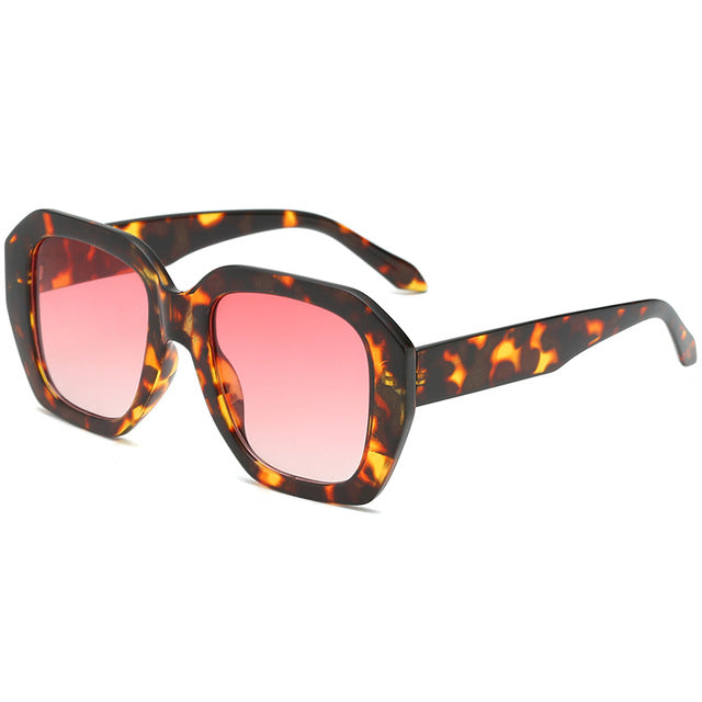 The Barney Sunglasses Leopard Frame Pink Lens Sunglasses Leopard Frame Pink Lens   - Super Cool Supply Store