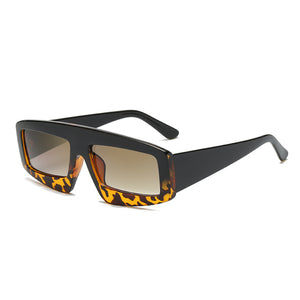 The Super Chunk Sunglasses Black Top Leopard Bottom Sunglasses Black Top Leopard Bottom   - Super Cool Supply Store