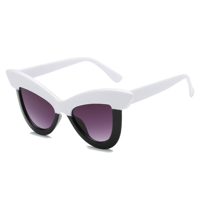 The Epica Singlasses White Black Sunglasses White Black   - Super Cool Supply Store