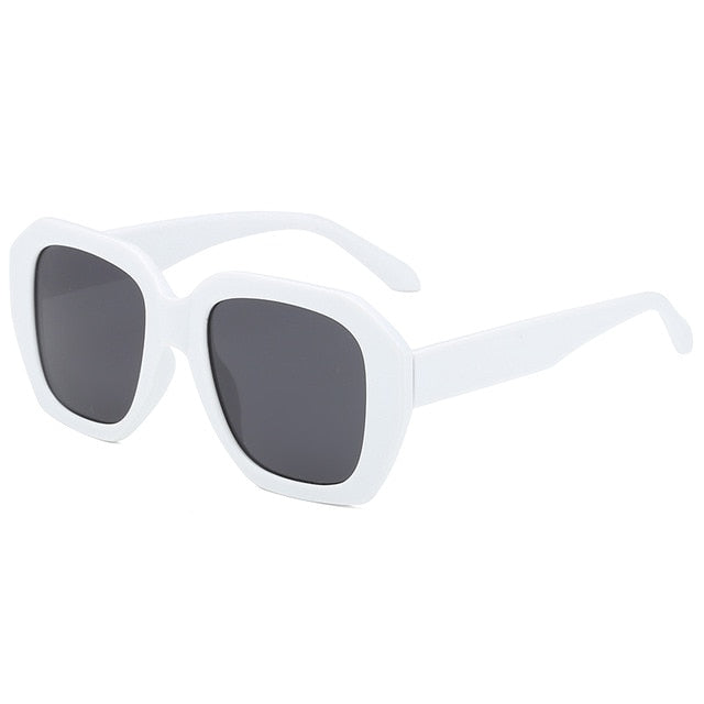 The Barney Sunglasses White Frame Black Lens Sunglasses White Frame Black Lens   - Super Cool Supply Store