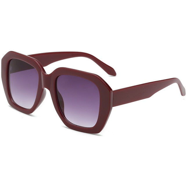 The Barney Sunglasses Dark Red Frame Purple Lens Sunglasses Dark Red Frame Purple Lens   - Super Cool Supply Store