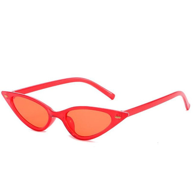 The Feline Sunglasses Red Frame Red Lens Sunglasses Red Frame Red Lens   - Super Cool Supply Store