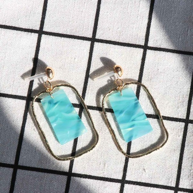 The Gem Drop Earrings Torquoise Earrings Torquoise   - Super Cool Supply Store