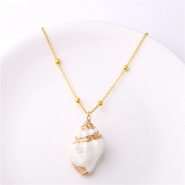 The Boho Shell Necklace Collection