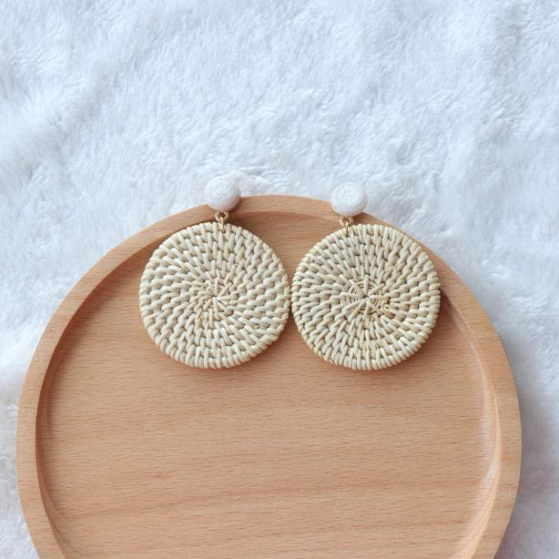 The Bontecou Woven Earrings Large Circle Earrings Large Circle   - Super Cool Supply Store