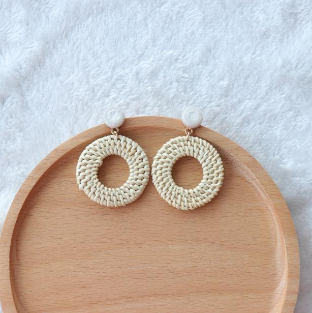 The Bontecou Woven Earrings Hollow Circle Earrings Hollow Circle   - Super Cool Supply Store