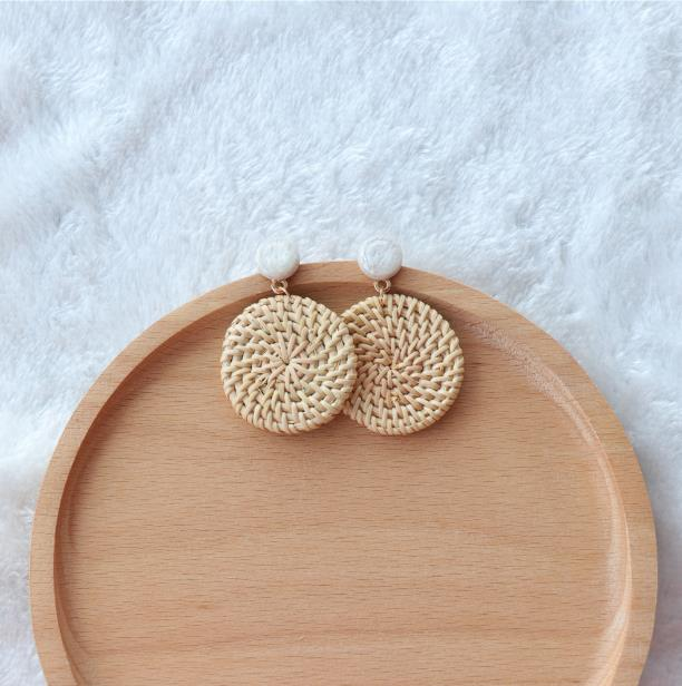 The Bontecou Woven Earrings Small Circle Earrings Small Circle   - Super Cool Supply Store