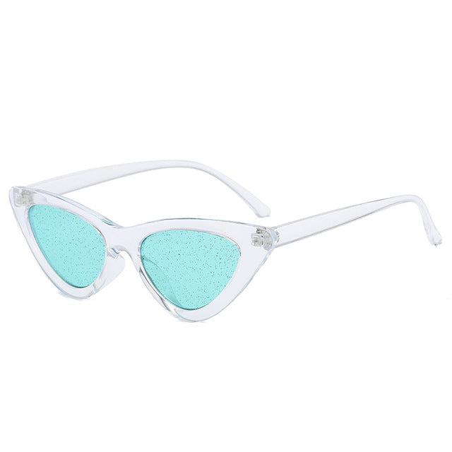 The Glitter Sunglasses Clear Frame Green Lens Sunglasses Clear Frame Green Lens   - Super Cool Supply Store