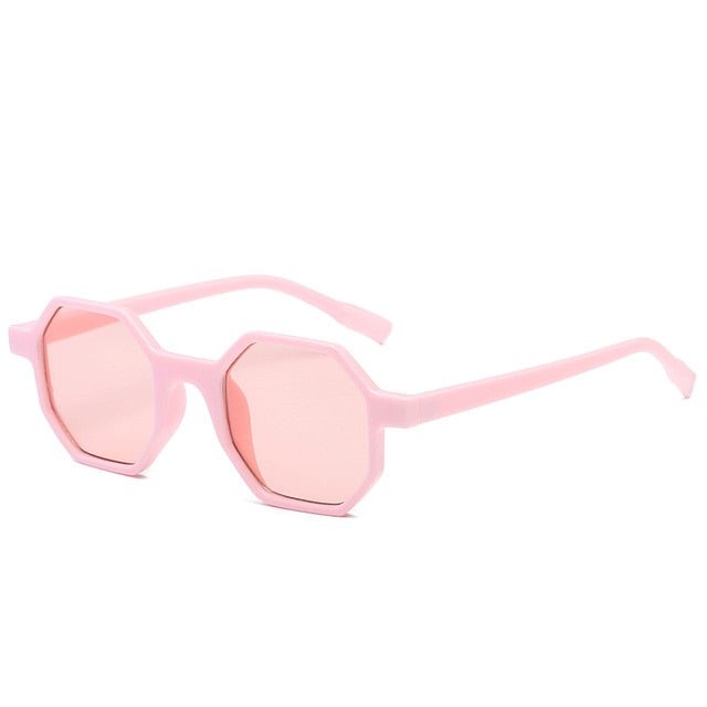 The Octagon Sunglasses Pink Frame Pink Lens Sunglasses Pink Frame Pink Lens   - Super Cool Supply Store