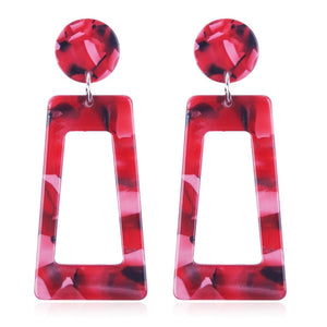The Evermore Archway Earrings Red Earrings Red   - Super Cool Supply Store
