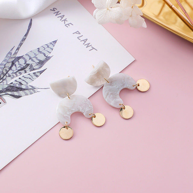 The Khalo Earrings White Earrings White   - Super Cool Supply Store
