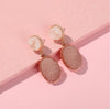 The Clark Drop Earrings Blush Grey Earrings Blush Grey   - Super Cool Supply Store