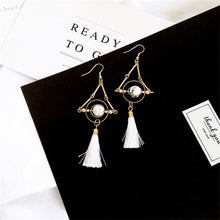 The Dita Tassel Earring White Hook Earrings White Hook   - Super Cool Supply Store