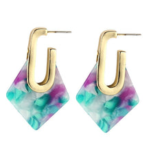 The Diamond Drop Earrings Purple Earrings Purple   - Super Cool Supply Store