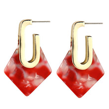 The Diamond Drop Earrings Red Earrings Red   - Super Cool Supply Store
