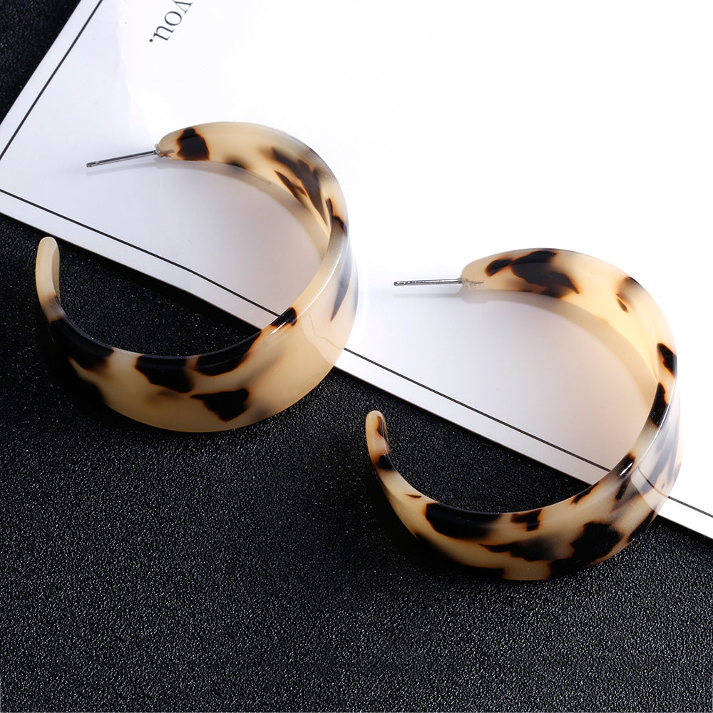 The Valadon Earrings White Leopard Earrings White Leopard   - Super Cool Supply Store