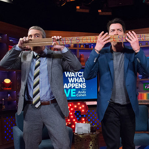 Andy Cohen Charlie Sheen Shotski