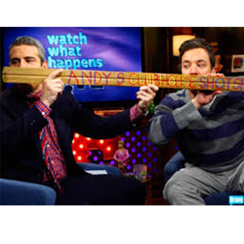 Andy Cohen Jimmy Fallon Shotski