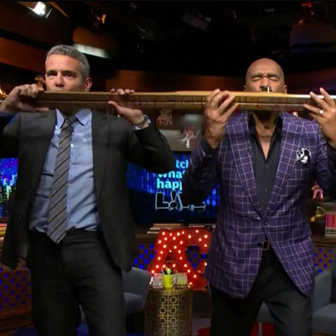 Andy Cohen Steve Harvey Shotski