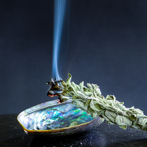smudging sage in your home