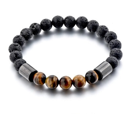 natural tiger eye mens bracelet