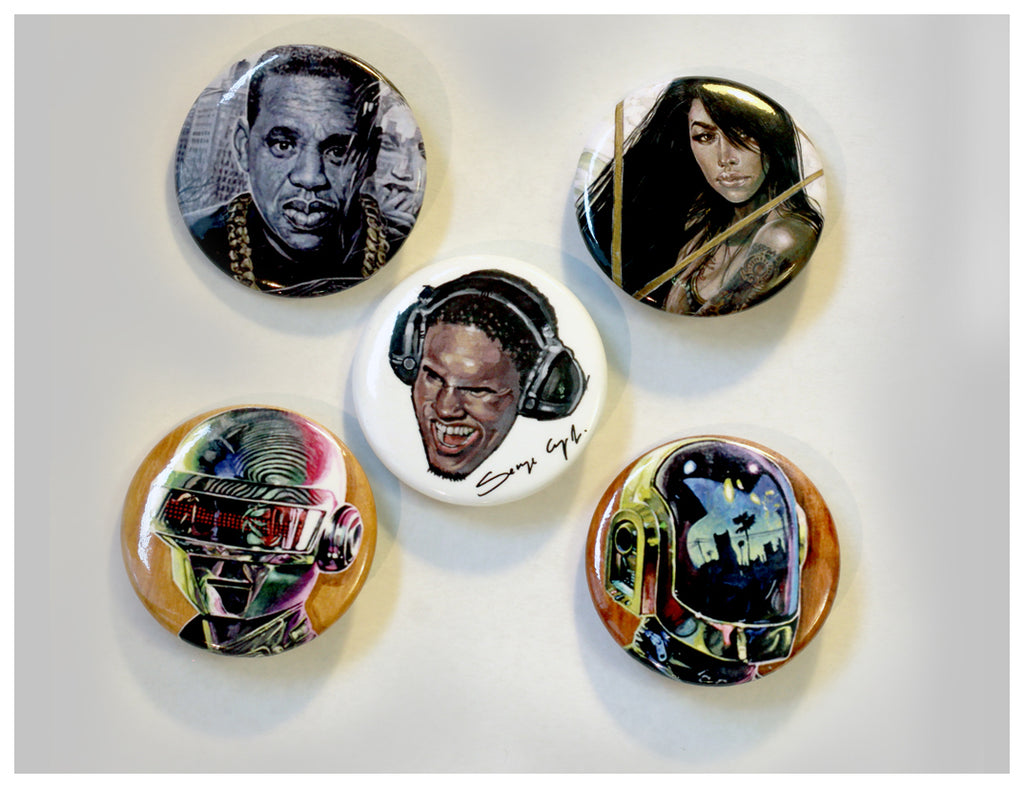 """Serge Pin Button"" 5 Set"