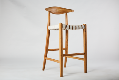 Leather Weave Barstool