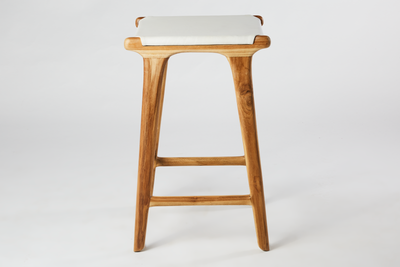 Leather Flat Stool