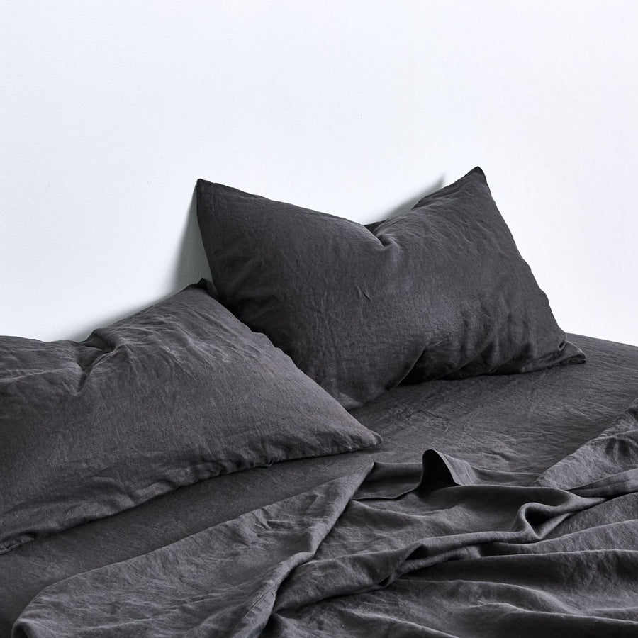 100% Linen Pillowslip Set in Kohl