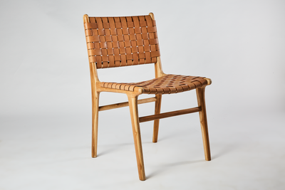Leather Weave Dining Chair
