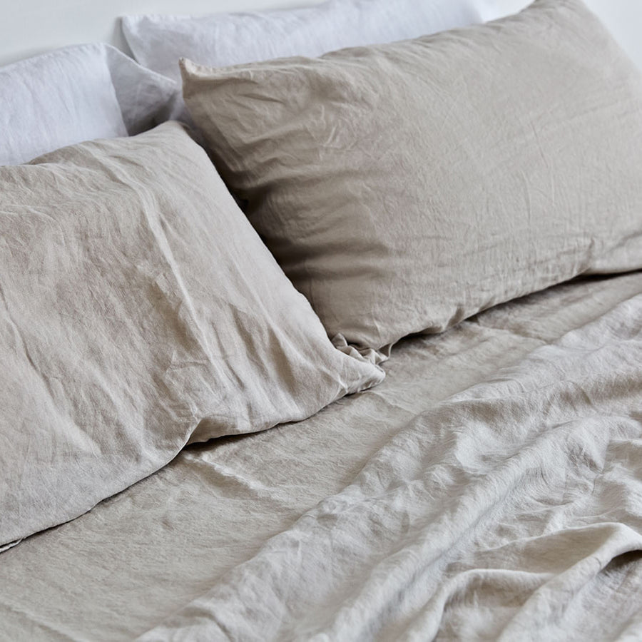 100% Linen Pillowslip Set in Dove Grey