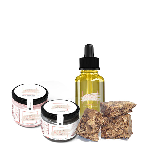 Full Size Glass Skin Care Package