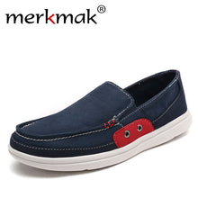 Merkmak Big Size 39-48 Men Canvas Shoes Ultralight Men Casual Shoes Top Quality Comfortable Slip-On Lazy Shoes for Men Loafers