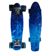 Printing Street Graffiti Style Skateboard Deck Plastic Board Outdoor Sports Adult Children Scooters Retro Cruiser Longboard 22in
