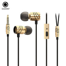 GGMM Earphones with Microphone fone de ouvido HiFi Earphone Headset Earbuds Earpiece auriculares Metal Stereo EarPhone for Phone