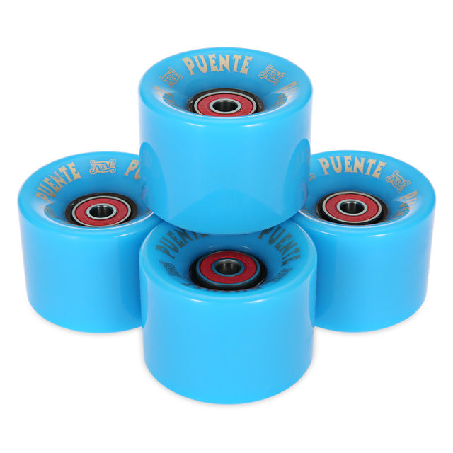 High Quality 4pcs/set Cruiser Skateboard Wheels 60 x 45mm Durable PU Wheels Longboard Cruiser Wheels with ABEC-9 Bearings