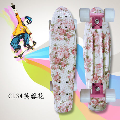 2017 mini Cruiser omplete Skateboard Four wheel Skate board adult&children small skateboarding peny Board banana Long Board