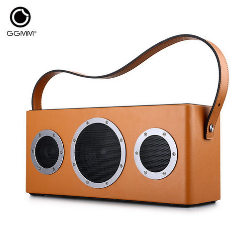 Original GGMM WS-401 M4 Retro Dual Wireless Connection WiFi Bluetooth Speaker 3.5mm Audio 3 speakers HiFi Music Player 10400mAh