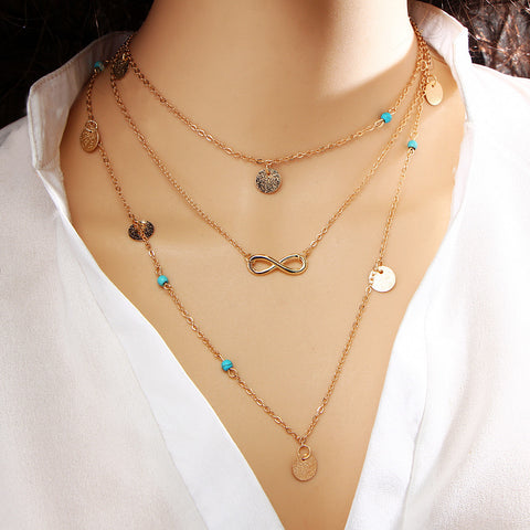Layered Choker Charm Necklace Limited Online Edition