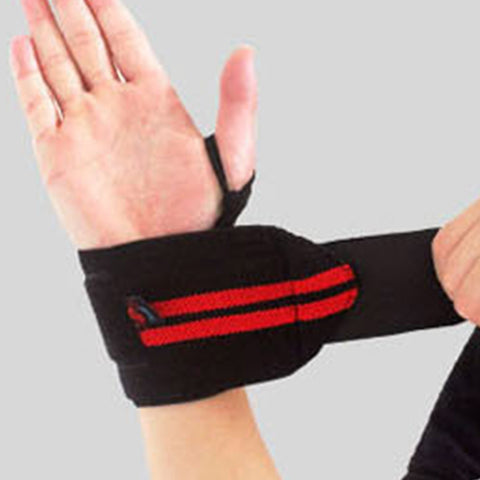 Weight Training Wrist Strap - Thumb Hook & Tape Adjustable
